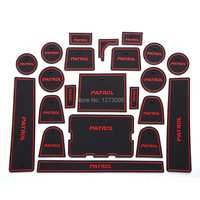 For Nissan PATROL Y62 2017 2018 Gate Slot Pad Non slip Cup Mats Anti Slip Door Groove Mat Sticker Interior Car Styling Accessory