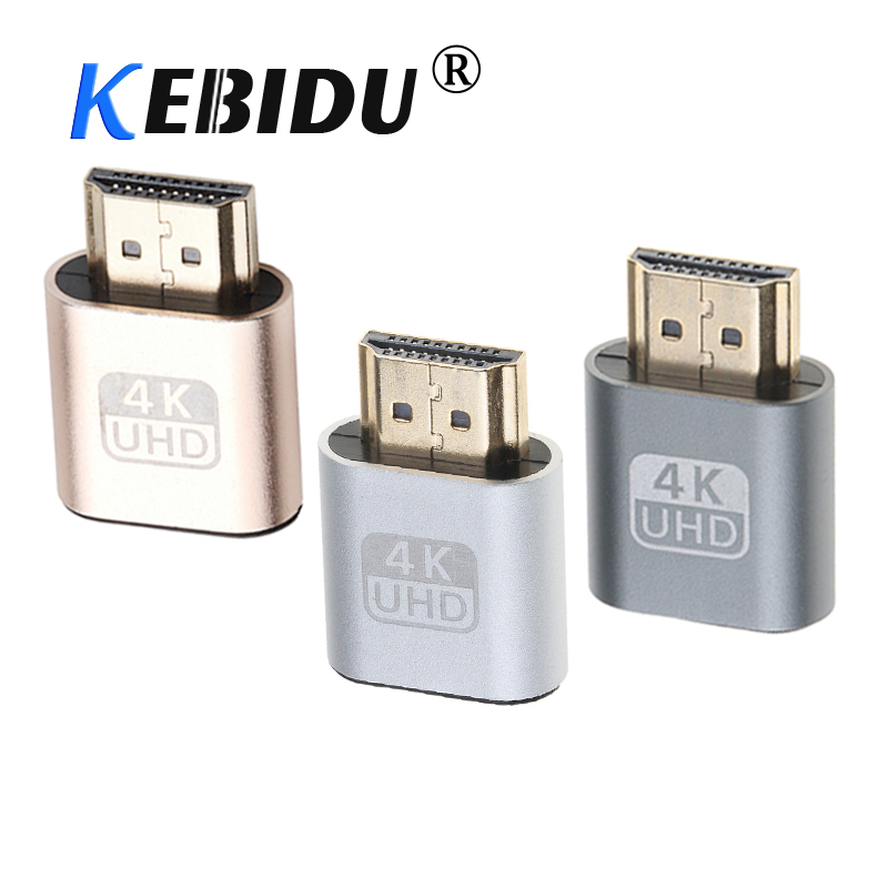 Kebidu 60Hz VGA Virtual Plug HDMI Dummy Adapter 1.4 DDC EDID Display Emulator For Miner Mining(China)
