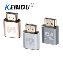 Kebidu 60Hz VGA enchufe Virtual HDMI adaptador ficticio 1,4 DDC EDID pantalla emulador para minería(China)