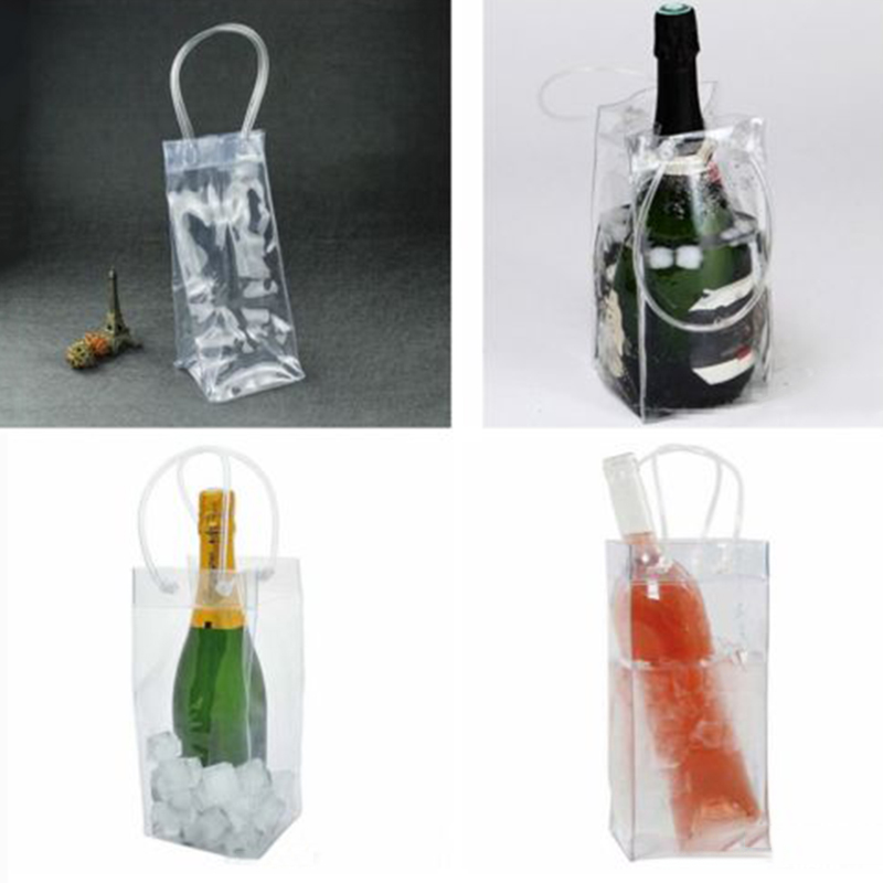 PVC Ice Bag Wine/Beer Champagne Bucket Drink Bottle Cooler Chiller Foldable Bag