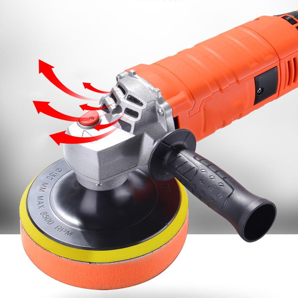 Image 2 - 1580W 220V Grinder Mini Polishing Machine Car Polisher Sanding Machine Orbit Polish Adjustable Speed Sanding Waxing Power Tools-in Polishers from Tools on