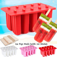 Silicone Ice Cream Tubs Moulds 10 Cavity DIY Yogurt Icebox Mold Dessert Tray Eco friendly Popsicle Mold Tools 3