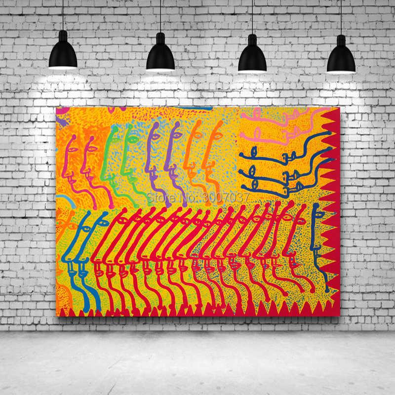 Dekorasiacion Rumah Yayoi Kusama Abstrak Seni Lukisan Tangan Dicat Abstrak Wajah Minyak Lukisan Klasik Lukisan Kanvas Tanpa Bingkai