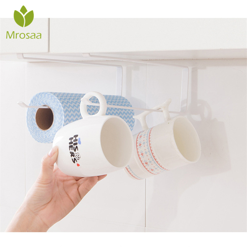 Creative Bathroom Toilet Roll Paper Towel Holder Kitchen Paper Holder Hanging Tissue Towel Rack  Kitchen Cabinet Storage Rack