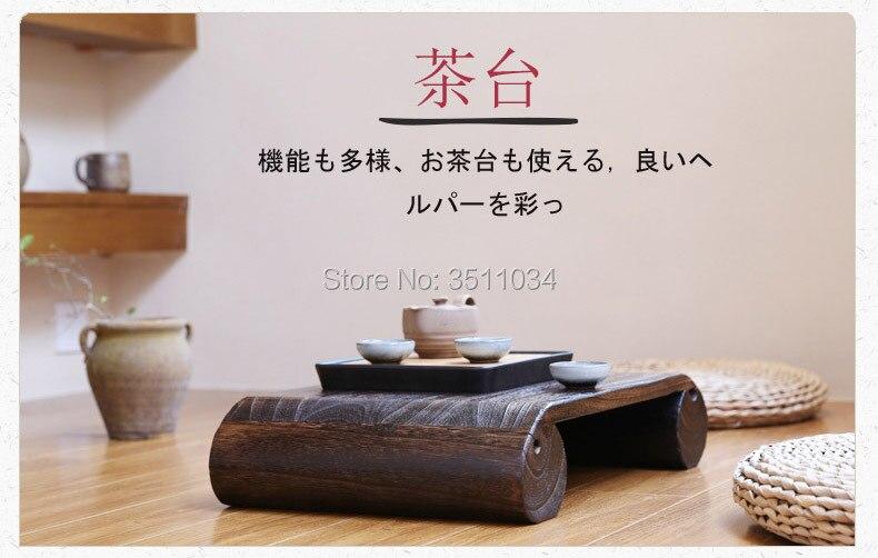 Banc de pédale en bois Antique japonais chaise Paulownia en bois asiatique meubles traditionnels salon support Portable tabouret Vintage