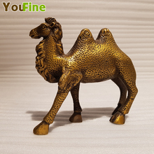 Bronze brass camel statue Chinese retro metal copper artwork various animal home decoration sculpture