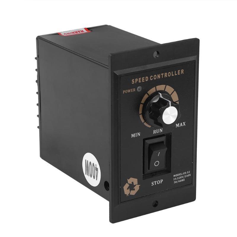 1Pc Motor Speed Controller Pinpoint Regulator Controller Forward And Backward AC Regulated Speed Motor Controller 400W AC 220V