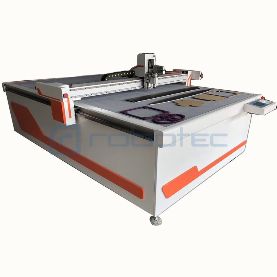 Vibrating Cutting Machine for rubber gaskets CNC oscillating knife blade cutting machine with punching bits for make shoes