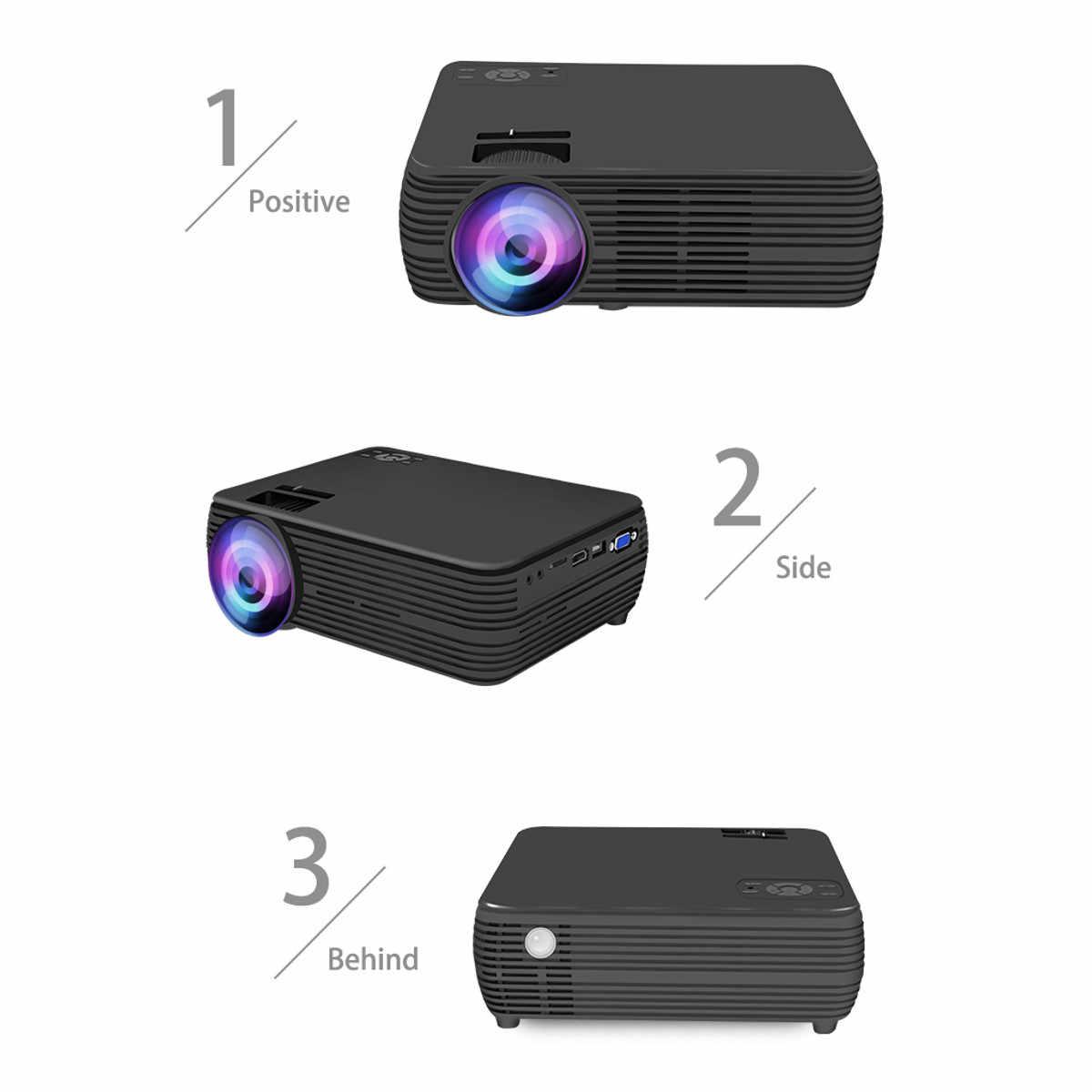 X5 ЖК-дисплей проектор android4.4/6,0 дома Кино театральный фильм Wi-Fi bluetooth светодиодный прожектор проекторами HD AV Поддержка 1080 P 7000 люмен