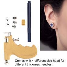 1 takım vücut Piercing Guns araçları kiti Metal ağrısız kulak küpe damızlık delik burun göbek Piercing vücut güvenli steril takı aracı