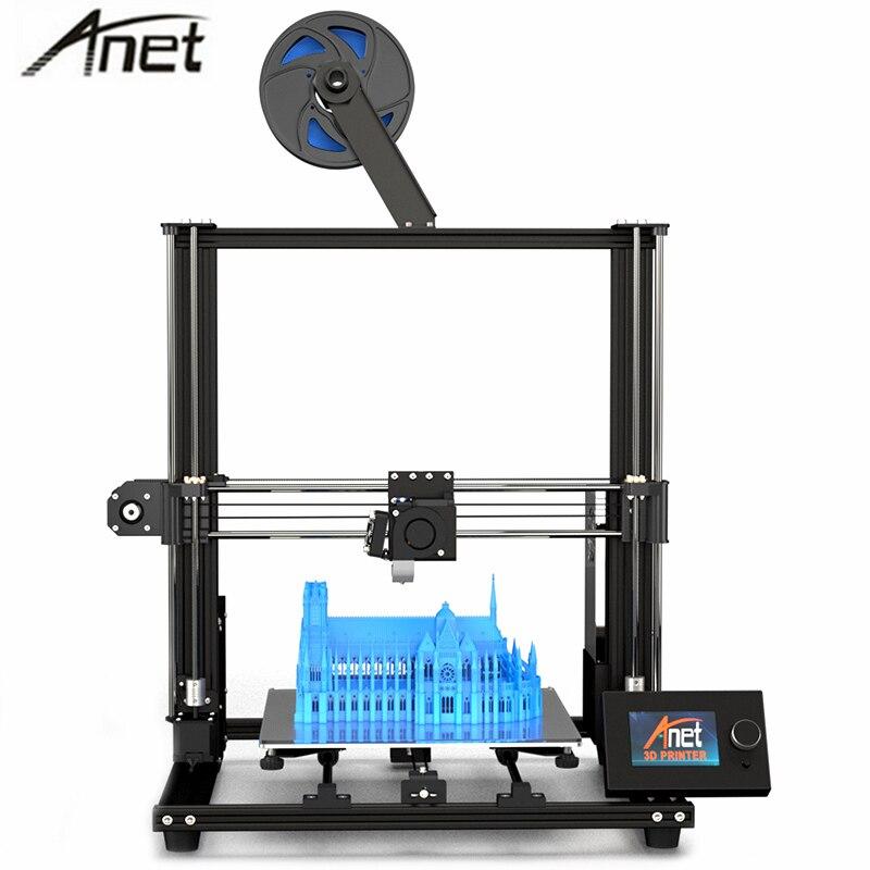 Anet A8 Plus dernière version améliorée de carte mère bricolage 3D imprimante kit Anet A8 haute précision bureau en métal Impresora 300x300x350mm