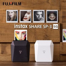 Fujifilm Instax Share SP 3 모바일 프린터 인스턴트 필름 사진 사각형 크기 흑백