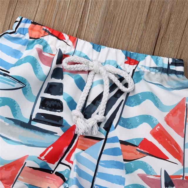 Hawaiian Swimming Beach Shorts Kid Baby Boys Elastic Waist Short Trunk Summer Holiday Boy Swimwear Beachwear Beach Shorts