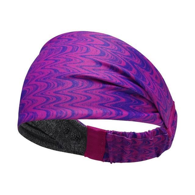 Sports Sweat Headband Sports Shirt Riding Yoga Hair Band Elastic Belt Sweat Sports Unisex Safety Turban Headwear Mountain Bike B 1