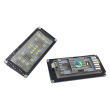 2 pcs Super Branco Erro Free LED Luzes Da Placa de Licença Para BMW E66