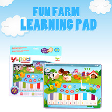 Fun Farm Learning Machine Functionally Pad Kid Baby Cute Animal Multi-functional Piano Button Toys Children Early Educational цена и фото