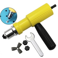 Electric Rivet Nut Gun Machine Riveting Tool Cordless Riveting Drill Adapter Riveter Insert Nut Tools for 3.2-4.8mm