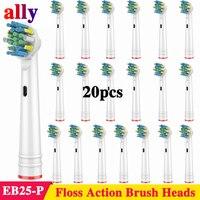 Электрическая зубная щетка 20X, сменные насадки для Oral B Vitality Triumph PRO 500 550 600 650