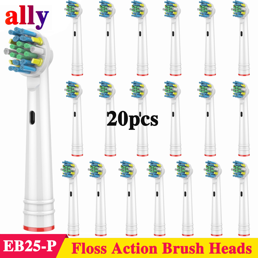 20X Floss Action Electric toothbrush heads Replacement For Oral B Vitality Triumph PRO 500 550 600 650 Electric toothbrush image