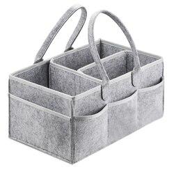 Bolso portatil organizador de pañales para bebé para mesa y coche cambiador, contenedores de almacenamiento esenciales para el cuarto de niños 38*23*18cm