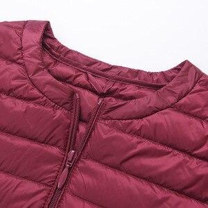 Image 3 - Marka NewBang dół kurtki kobiet długi, z kaczego puchu kurtki kobiety lekki ciepły Linner, szczupła, przenośna damskie płaszcze