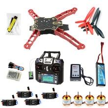 цена на Unassembled Q330 Frame QQ Super Controller Motor ESC with Flysky FS-i6 6CH Transmitter for DIY RC Drone Racer Aircraft F11797-J