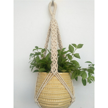 Mayitr Vintage Jute Rope Braided Pot Holder Hanging Planter Basket 78cm Macrame Plant Decoration Hanger
