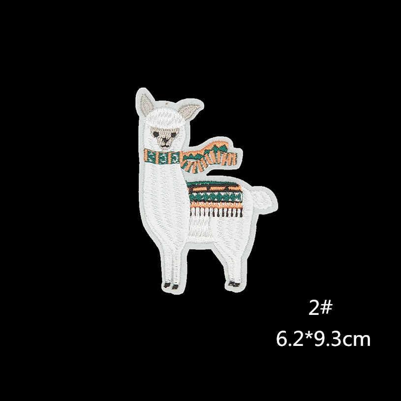 PGY Alpaca Thêu Miếng Dán Sắt Trên Dễ Thương Táo Miếng Dán Cường Lực Cho Áo Thun Các Ứng Dụng Tự Làm Trang Phục Phụ Kiện Hình Động Vật Parches