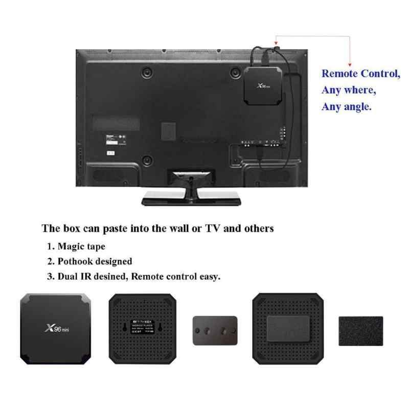 X96 ميني مربع التلفزيون الذكية أندرويد 7.1 Amlogic S905W مربع التلفزيون رباعي النواة 2GB RAM 16GB ROM 2.4G واي فاي التلفزيون فك التشفير مشغل وسائط تي في بوكس X96mini