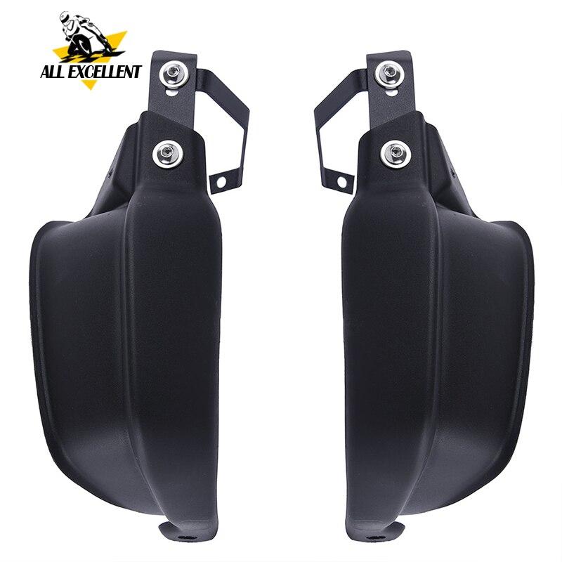 Black Handle Bar Hand Brush Guard Handlebar Protector For 2010 2017 Kawasaki Versys 650 1000 KLE650C