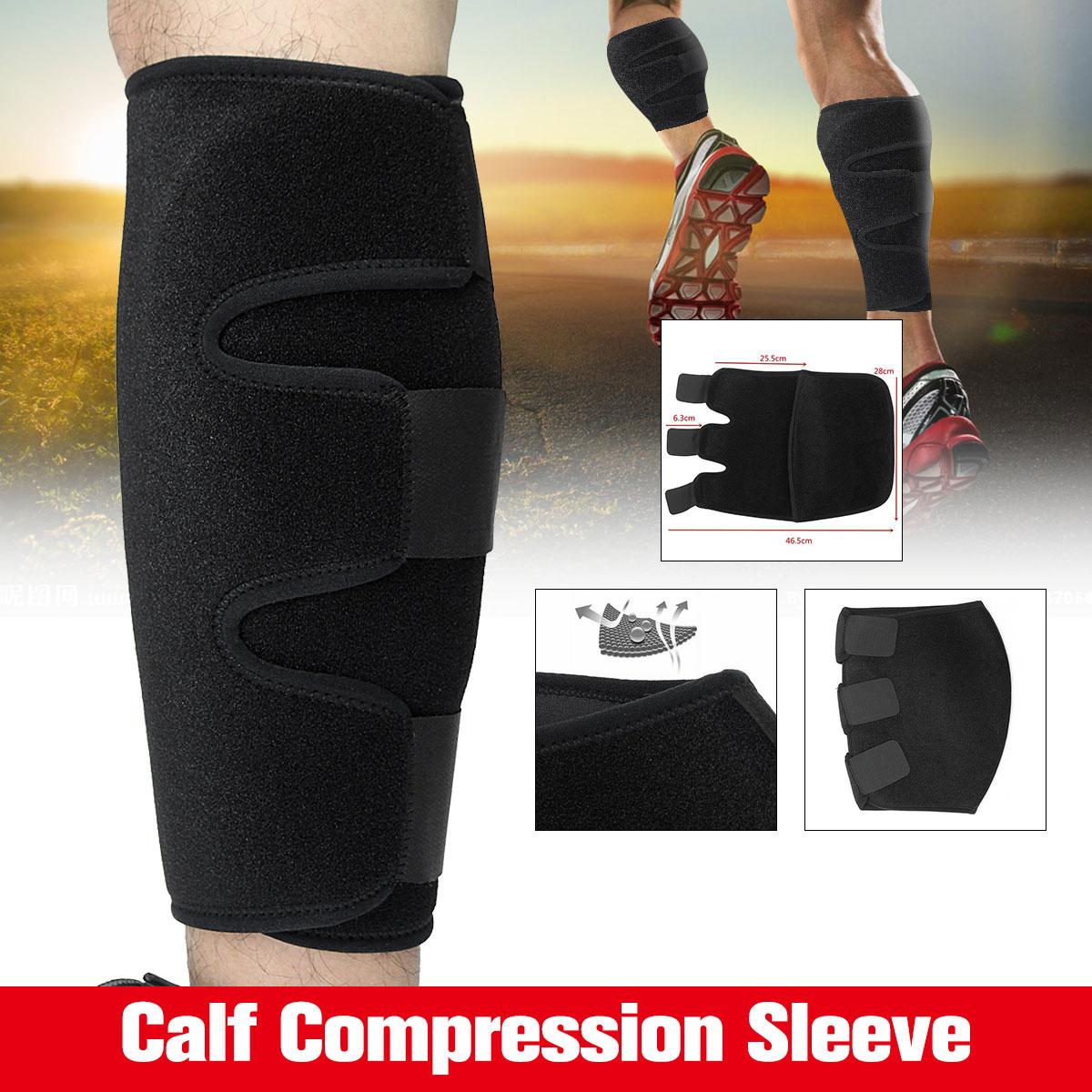 103957b380 1Pc Unisex Neoprene Polyester Sport Running Calf Compression Brace Shin  Splint Sleeve Support Lower Leg Wrap Muscle Pain Relief-in Shin Guard from  Sports ...