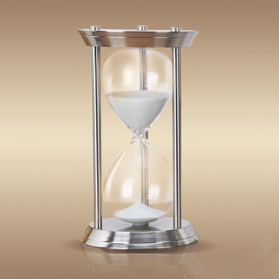 1 Hour High Quality Metal Big Hourglass Sand Timer 60 Minutes Large Hourglass El Reloj De Arena Sablier La Clessidra Die Sanduhr Suitable For Men And Women Of All Ages In All Seasons