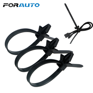 Image 1 - FORAUTO 15 Pieces Car Wire Organizers Cable Clamp Clips Wire Harness Fastener Cable Ties Management For Car Corrugated Pipe