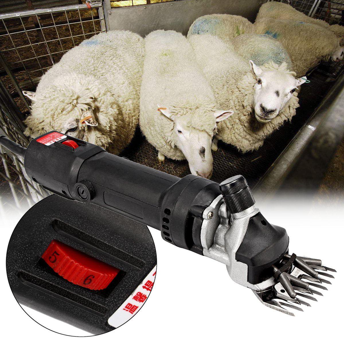 690W 6 Level Speed Electric Shears Shearing Hair Clipper Animal Sheep Goat Pet Farm Machine Scissor