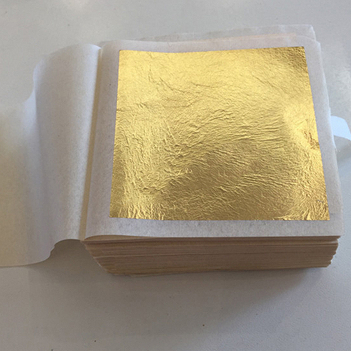 10 Sheets New Gold Foil Leaf 24K Food Anti-Aging Facial Spa Craft Gilding