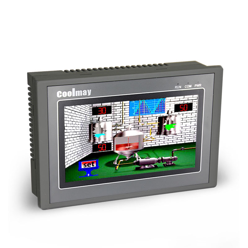 Coolmay MX2N-70HB-44MR-485H 7 inch 24DI 20DO programming plc with hmi touch panel integrated