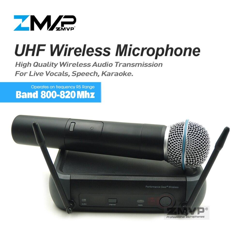 ZMVP PGX24 professionnel PGX UHF karaoké système de Microphone sans fil avec bêta 58 Super cardioïde 58A émetteur de poche Mike Mic