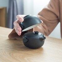 Rough Pottery Teapot Set 1 Pot 1 Cup Personal Easy Quik Office Travel For Puer Tea Party Brewing Porcelain Samovar Teacup