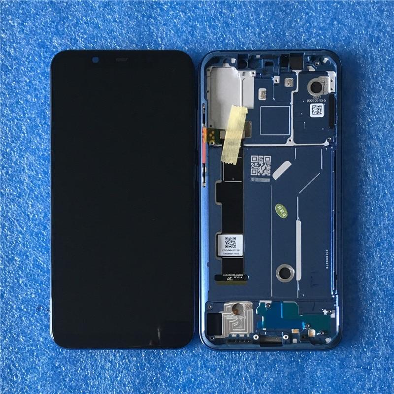 """オリジナル Axisinternational フレーム 6.21 """"Xiaomi 8 Mi8 MI8 スー Amoled 液晶画面表示枠 + タッチパネルデジタイザアセンブリ  グループ上の 携帯電話 & 電気通信 からの 携帯電話用液晶ディスプレイ の中 1"""