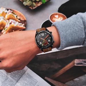 Image 2 - 22MM Smart Sports Watch Strap Top Layer Fashion Replacement Leather Watch Strap 7 Shape Wristband Watch Magic Band 2019 New