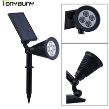 цена на Adjustable LED Solar Light Outdoor 4 Leds Ground Light LED Garden Lawn Light Solar Powered Underground Lights White Lamp