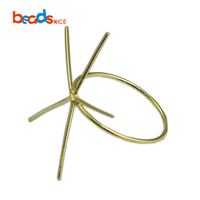 Beadsnice ID39494smt2 5 Prong Gold Filled Ring Easy Mount Gold Band Ring DIY Jewelry Claw Ring Blank