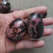 2pcs Natural plum blossom tourmaline hand crystal stone play rose red decoration spiritual healing energy