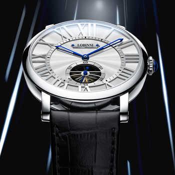 Luxury Brand LOBINNI Watch Men Mechanical Men\'s Watches Sapphire 50 M Waterproof relogio Skeleton Genuine Leather Clock L16016-1