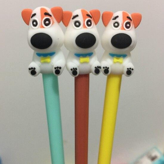 100 ピース/ロット、卸売、送料無料、かわいい犬スタイルゲルペン韓国の文房具かわいい漫画クリエイティブスクールサプライ、 3 カラー  グループ上の オフィス用品 & 学用品 からの ボールペン の中 1