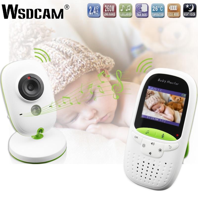 Wireless LCD Audio Video Baby Monitor VB602 Radio Nanny Music Intercom IR 24h Portable Baby Camera Baby Walkie Talkie Babysitter