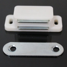 4pcs Plastic Wardrobe Cabinet Cupboard Door Magnetic Catch Latch Stopper Holder Self-Aligning Magnet Home Furniture Hardware 20pcs plastic steel magnetic cabinet cupboard catch glasses window door catches pull clamps ark to suck white hg99