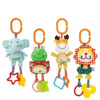 4PCS baby grip type plush toy bed hanging rattle 0 3 years old wind chime bed bell pendant baby puzzle hand rattle set
