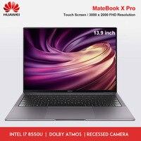Original HUAWEI MateBook X Pro Laptop Touch Screen Windows 10 Intel Core I5 8265U i7 8565U 8GB 512GB SSD Fingerprint Notebook PC