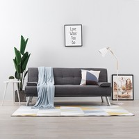 Lazy Floor Sofa Bed Adjustable Modern Design Lazy Sofa Furniture Living Room Reclining Folding Sofa Couch with 2 Pillows